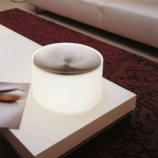 Round TA Glass Table light, white