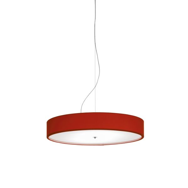 Discovolante E27 Cotton / Polyester D100 Pendant light, red