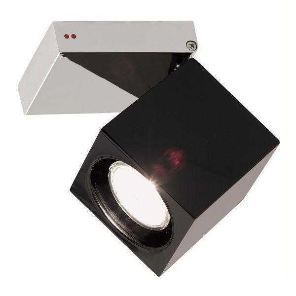Cubetto  Glass G03 black Ceiling light