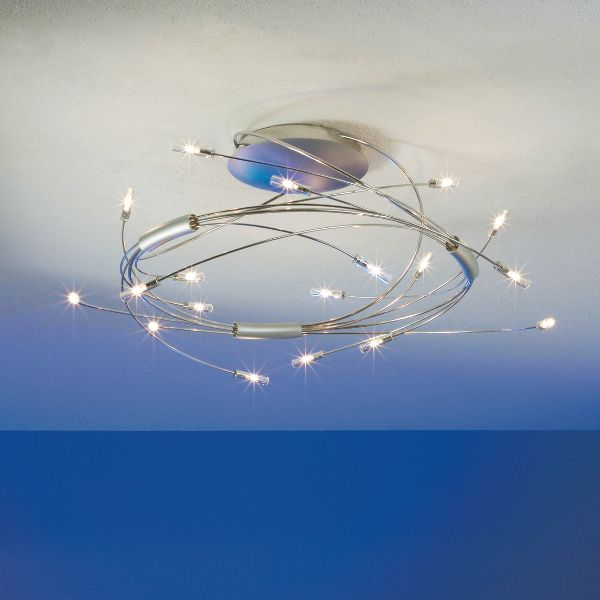 Spin 18 ceiling light, stainless steel
