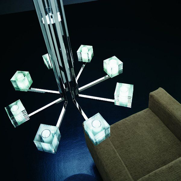 Accommodation example of the Otto x Otto K8 chandelier