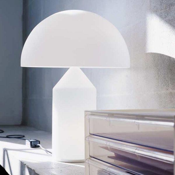 Atollo table lamp L opal glas white