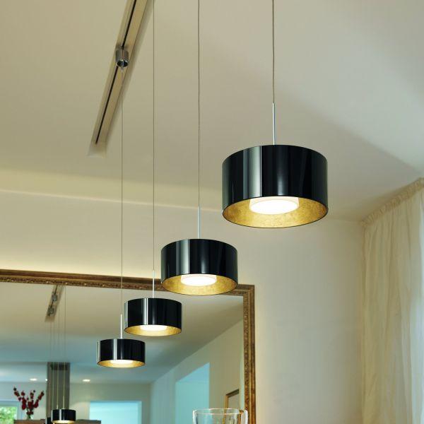 Cantara 190 LED black/gold - chrome matt