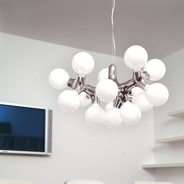 DNA Chandelier XL Pendant Light in chrome