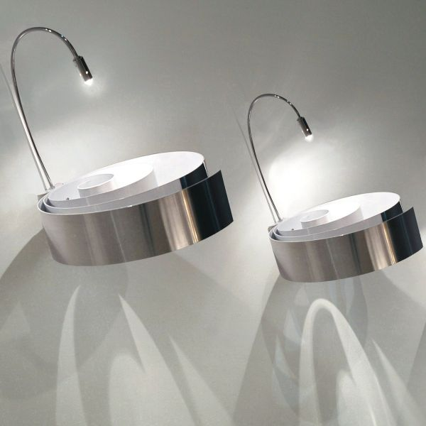 Spiral p35 wall light aluminium / white