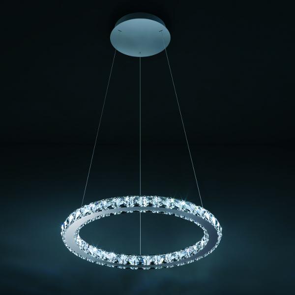 Modern 60 70 90cm Crystal Led Chandeliers Ceiling Lights: Swarovski Circle Pendant Light