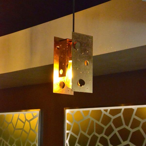 Knikerboker Buchi pendant light, medium, gold