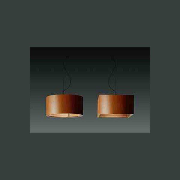 Wood square Pendant light, honey