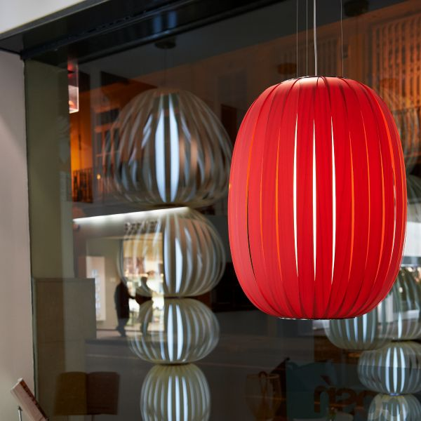 Pod suspension lamp, red - not available for USA, Canada & Australia