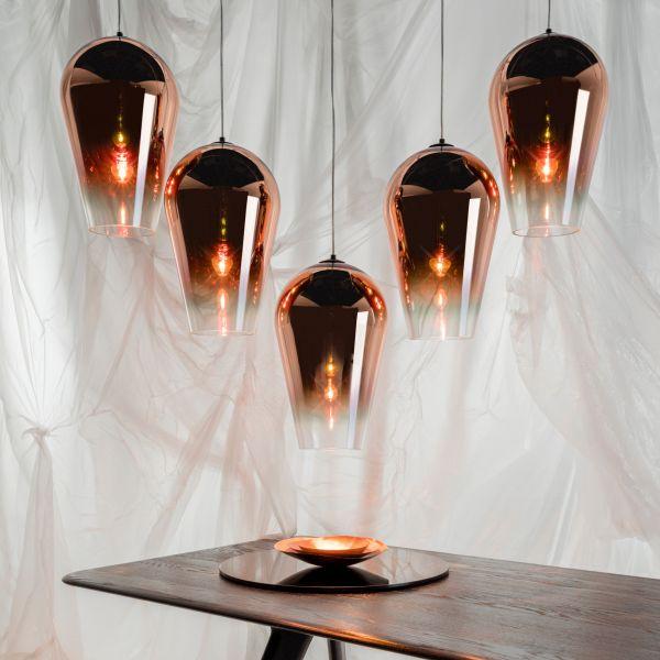 Fade Suspension Lamp, Copper