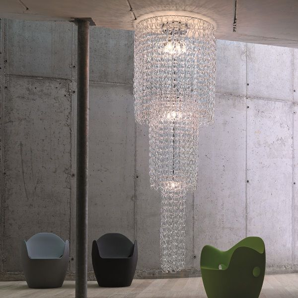 Giogali PL CA1 Ceiling fixture, crystal clear