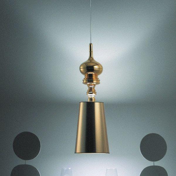 Josephine T suspension lamp in gold