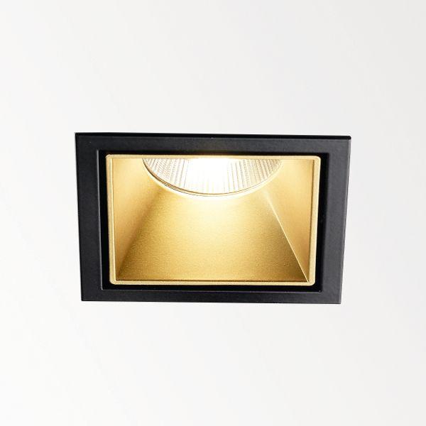 Carree ST L LED Recessed light gold-black