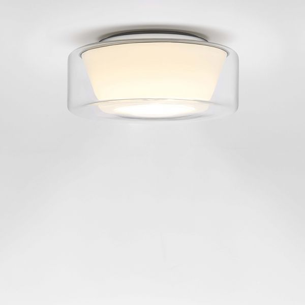 Curling clear / conical opal LED ceiling light