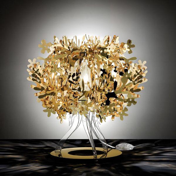 Fiorellina Metallic table lamp gold