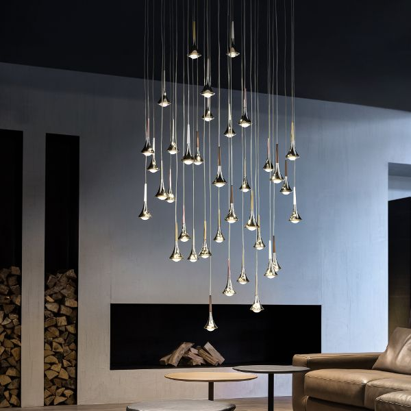 Rain Cluster 14 Lights Round Pendant Light