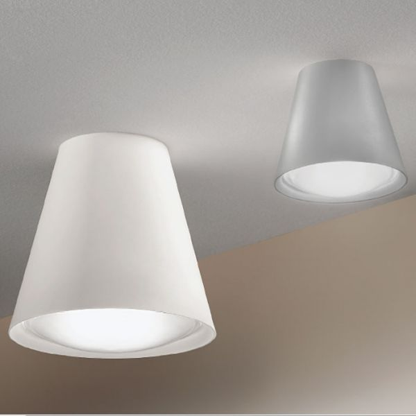 Conus Ceiling Light With White And Grey Finish