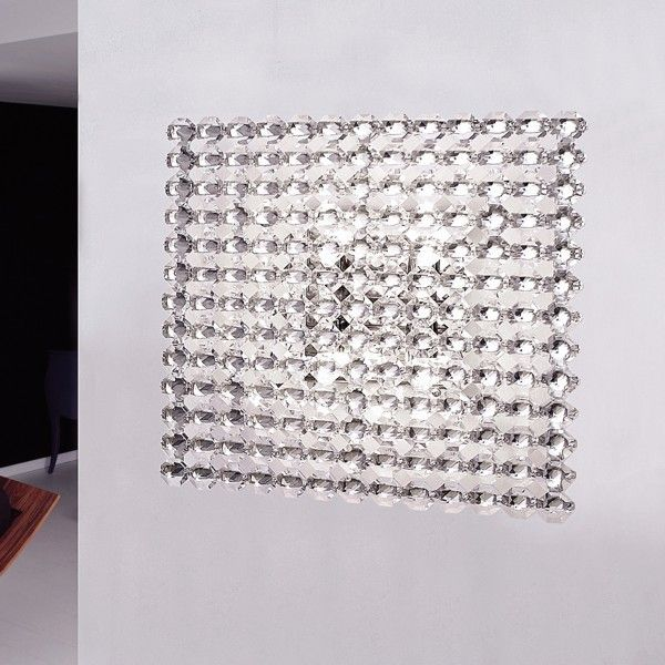 Topazio 39x39 ceiling and wall lamp