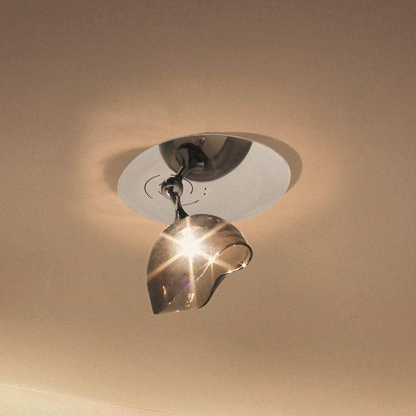 Ninfea AP P Ceiling-/Wall lamp, smoky grey