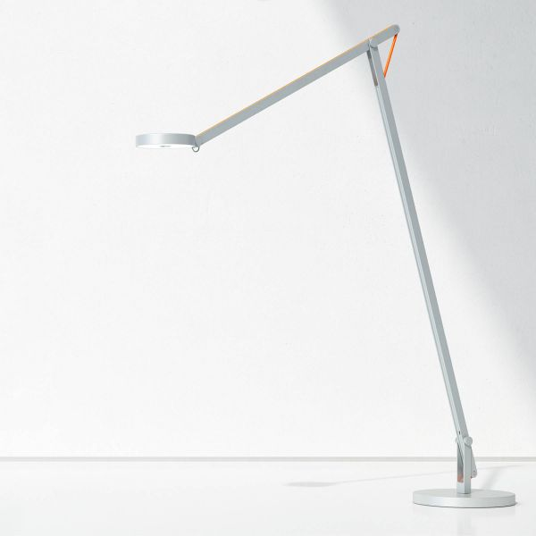 String F1 Floor lamp (silver with orange cable)