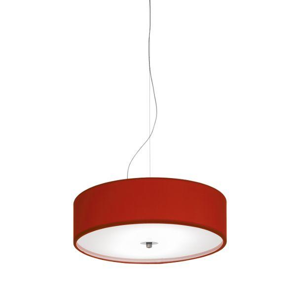 Discovolante E27 Lycra Flamer D40 Pendant light, red