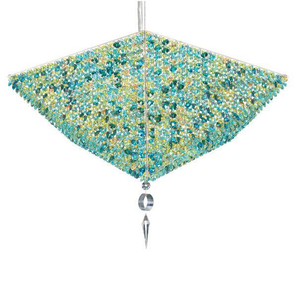 Vertex VP2413 pendant light with Swarovski crystals