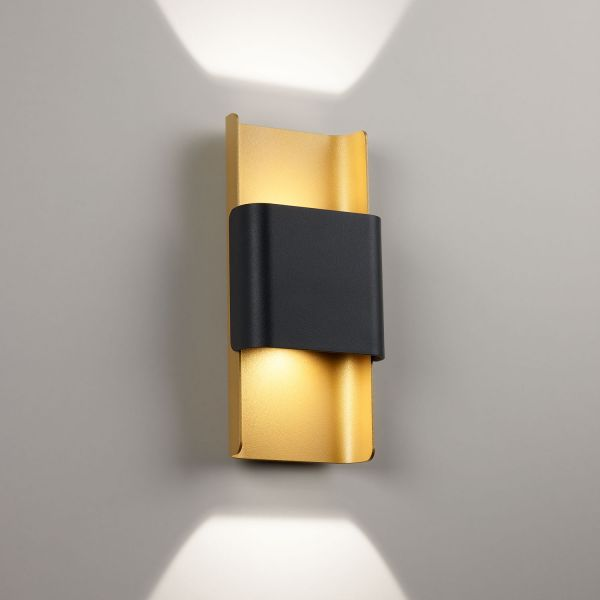 Deltalight, Want it L dimmable wall light, color black-gold mat