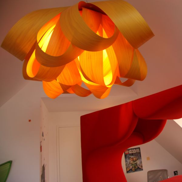 Agatha pendant lamp large, Orange enlightened - not available for USA, Canada & Australia