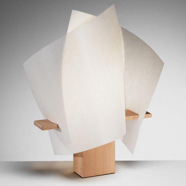 Plan B table lamp, beech