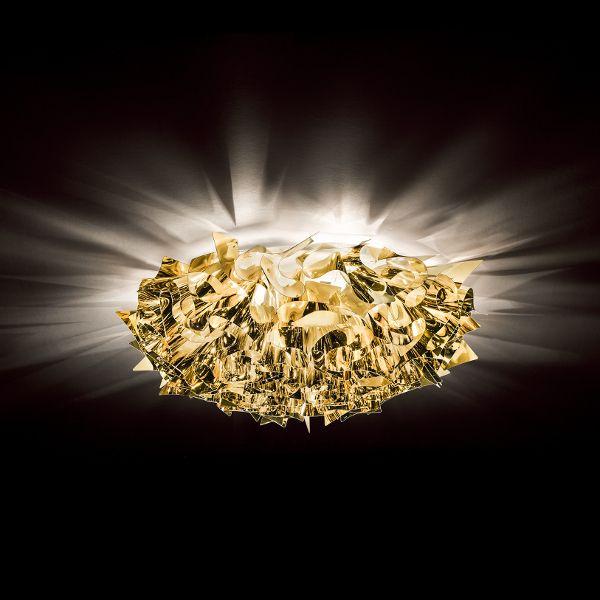 Veli Metallic Wall/ Ceiling Light Medium Gold