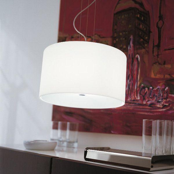 Round SO 35 Pendant light, white