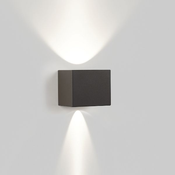 Tiga LED Wall light grey-brown slightly closed