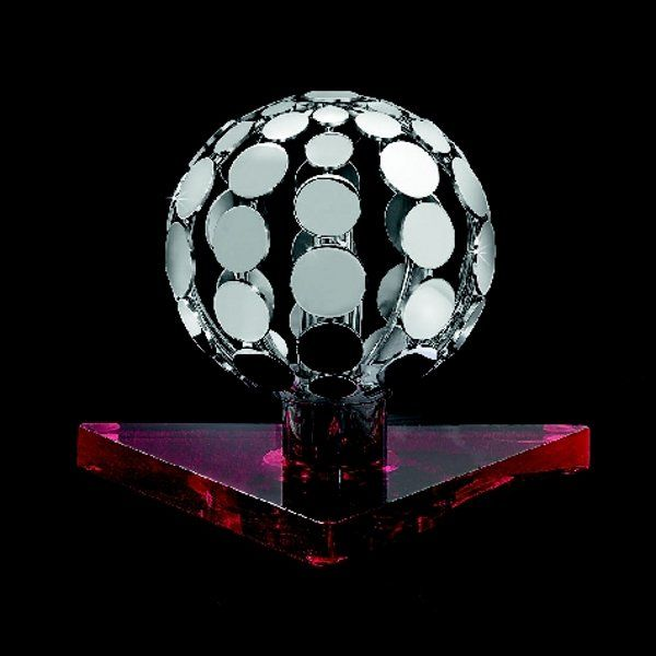 The Sfera 510/LP table light, silver, red