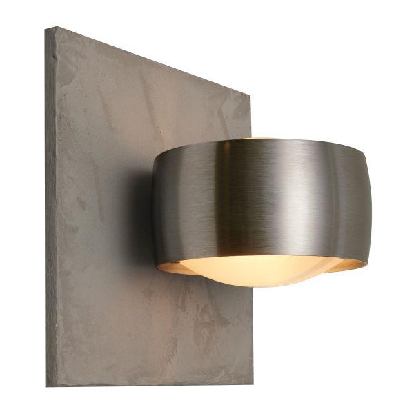 Grace Unlimited LED wall sconce, concrete structure / chrome matt