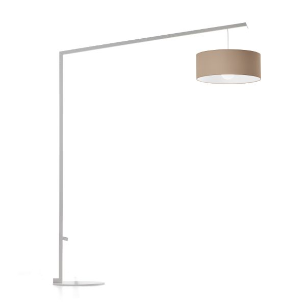 Angelica White Lycra floor lamp