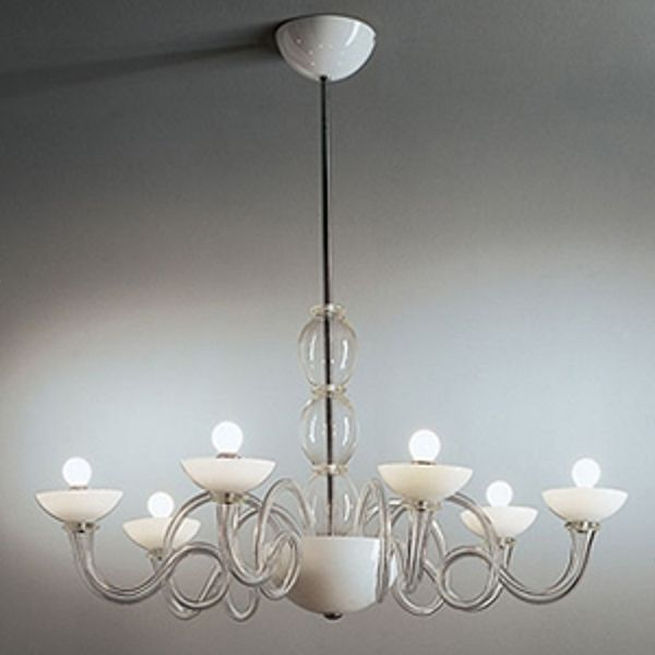 A white Pantalica sospensione pendant light
