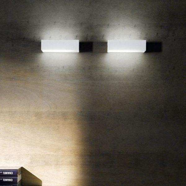 Box LED wall light