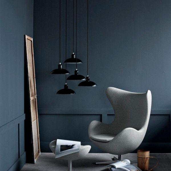 6631 P pendant light glossy black