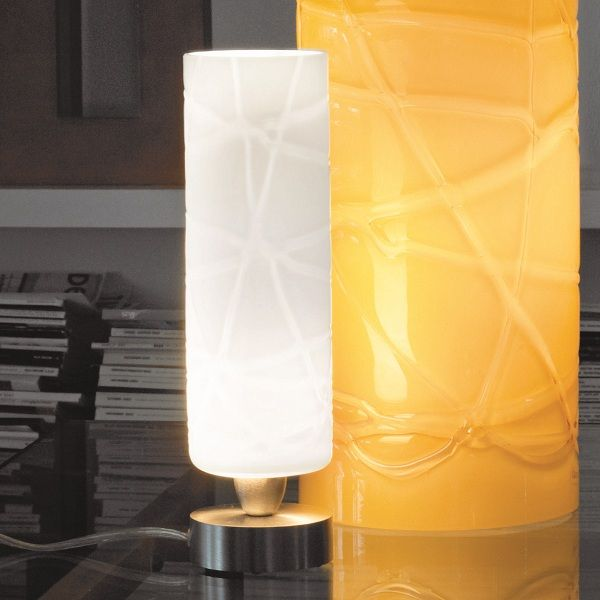 Follia  LT P Table light, white with crystal threads