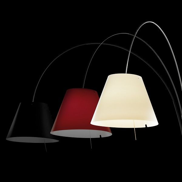Lady Costanza D13Ea d./i. Wall sconce, black, red, white