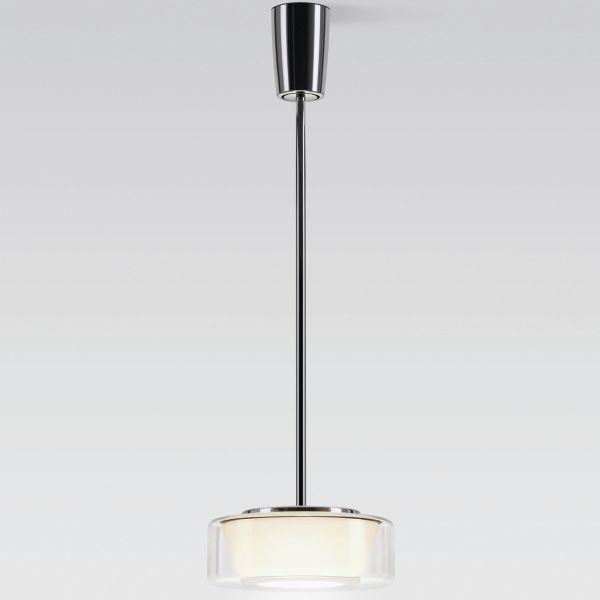 Measurements Curling Tube clear / conical opal Halogen pendant light