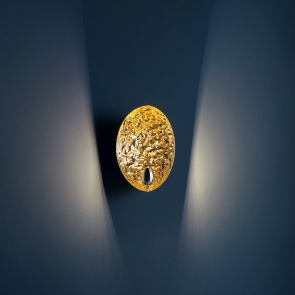 Stchu Moon 05 LED Wandleuchte in gold