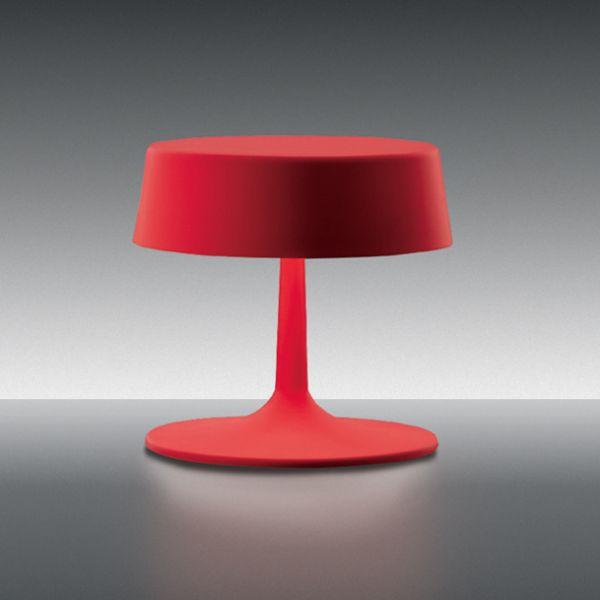China small Table light, red matt