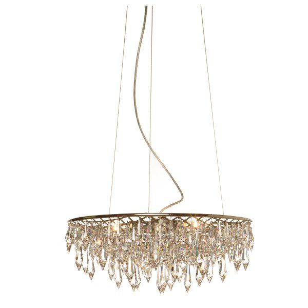 Crystal Rain suspension lamp round, small