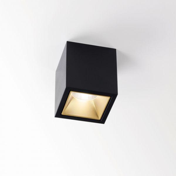 Boxy L LED Downlight black/ gold matt