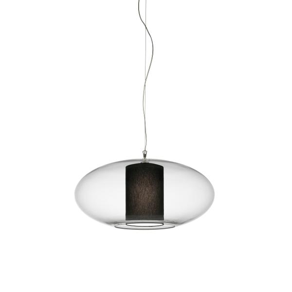 Ellisse D60 Cotton/Polyester Pendant light, black