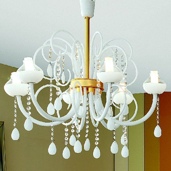 The Intrecci 2082/6 pendant light white, gold
