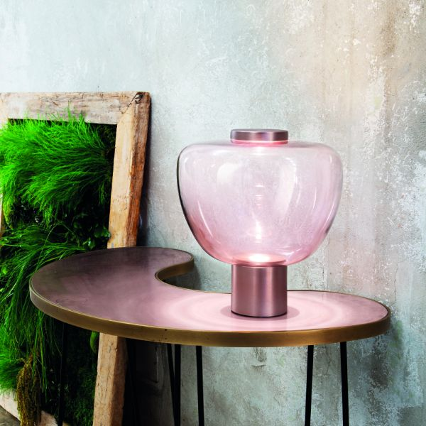 Riflesso LT3 table lamp in copper satined/ amethyst