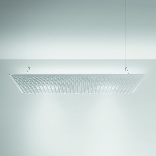 Eggboard Matrix 160 pendant light, dircet and indirect lighting, white