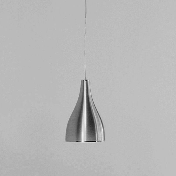 One Eighty Suspension Track Pendant light, brushed aluminum